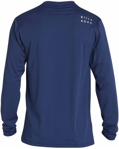 1 All Day Mesh Loose Fit Long Sleeve Rashguard Blue MR53NBAM Billabong