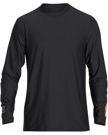 0 D Bah Loose Fit Long Sleeve Rashguard Black MR54NBDB Billabong