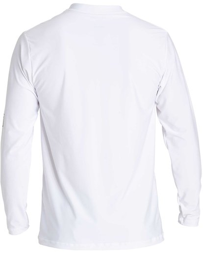 2 D Bah Loose Fit Long Sleeve Rashguard White MR54NBDB Billabong