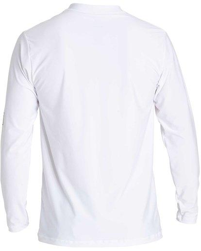 4 D Bah Loose Fit Long Sleeve Rashguard White MR54NBDB Billabong
