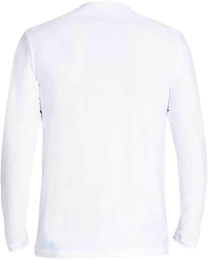 5 D Bah Loose Fit Long Sleeve Rashguard White MR54NBDB Billabong