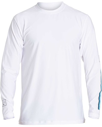0 D Bah Loose Fit Long Sleeve Rashguard White MR54NBDB Billabong