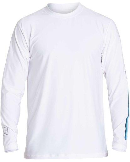 1 D Bah Loose Fit Long Sleeve Rashguard White MR54NBDB Billabong