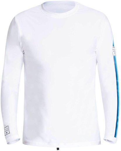 2 D Bah Loose Fit Long Sleeve Rashguard White MR54NBDB Billabong