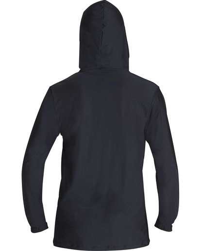 1 Unity Hooded Loose Fit Long Sleeve Hooded Rashguard Black MR55TBUH Billabong