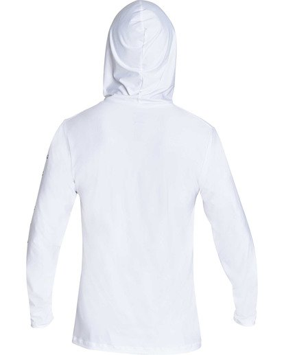 1 Unity Hooded Loose Fit Long Sleeve Hooded Rashguard White MR55TBUH Billabong