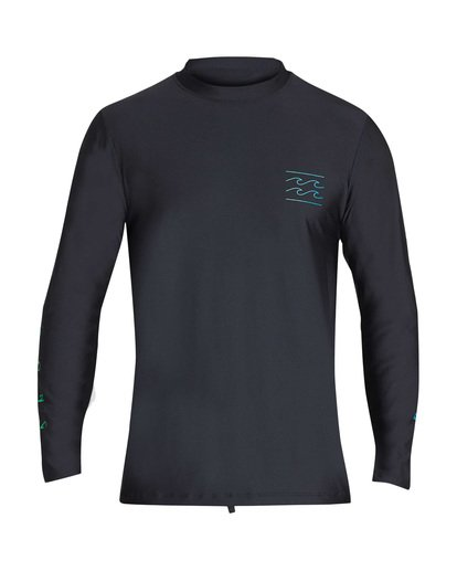 0 Unity Loose Fit Long Sleeve Rashguard Black MR55TBUL Billabong