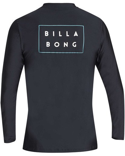 1 Die Cut Loose Fit Long Sleeve Rashguard Black MR59TBDC Billabong