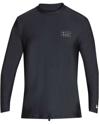 0 Die Cut Loose Fit Long Sleeve Rashguard Black MR59TBDC Billabong