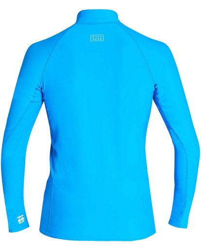 1 All Day Wave Performance Fit Long Sleeve Rashguard Blue MR60TBAL Billabong