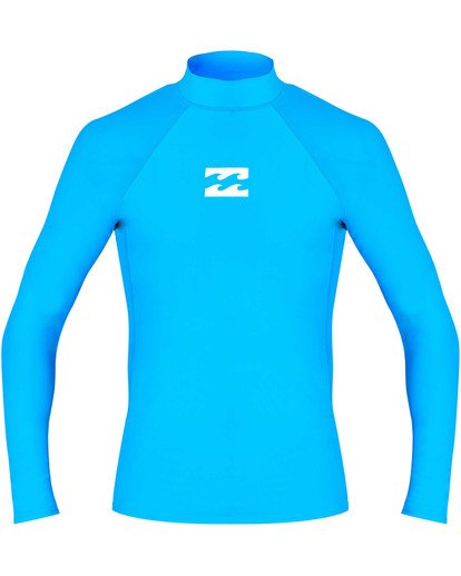 0 All Day Wave Performance Fit Long Sleeve Rashguard Blue MR60TBAL Billabong