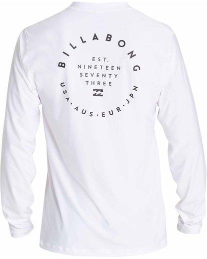 1 Rotor 2 Loose Fit Long Sleeve Rashguard White MR61NBRO Billabong