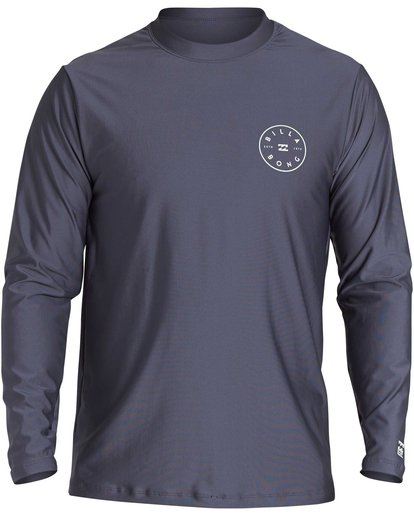 0 Rotor Loose Fit Long Sleeve Rashguard Grey MR61QBRO Billabong