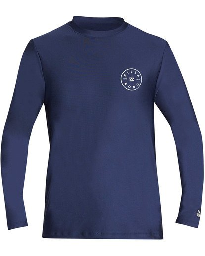 0 Rotor Loose Fit Long Sleeve Rashguard Blue MR61TBRO Billabong