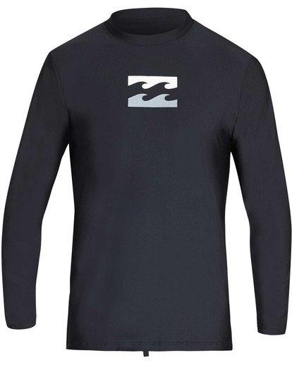 0 All Day Wave Loose Fit Long Sleeve Rashguard Black MR61TBWL Billabong
