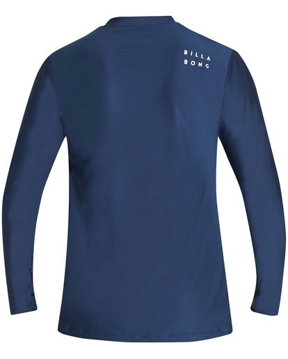 1 All Day Wave Loose Fit Long Sleeve Rashguard Blue MR61TBWL Billabong