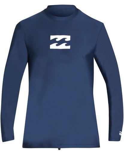 0 All Day Wave Loose Fit Long Sleeve Rashguard Blue MR61TBWL Billabong