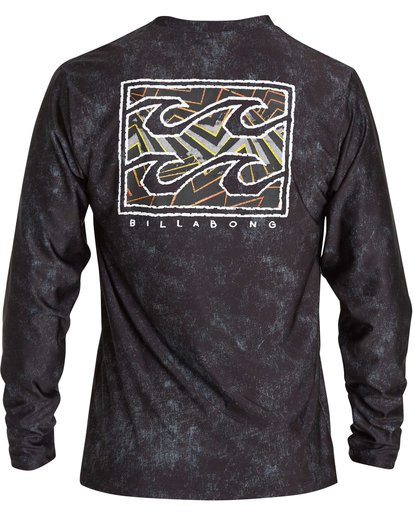 2 Riot Loose Fit Long Sleeve Rashguard Black MR62NBRL Billabong