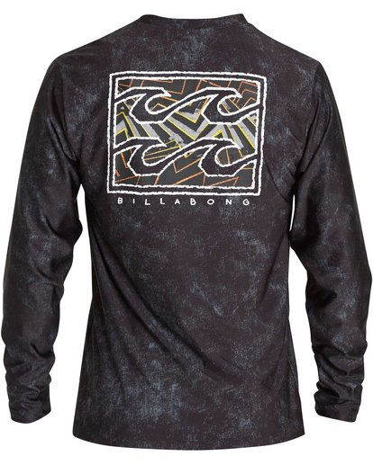 3 Riot Loose Fit Long Sleeve Rashguard Black MR62NBRL Billabong