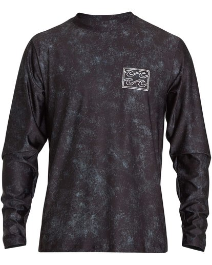 0 Riot Loose Fit Long Sleeve Rashguard Black MR62NBRL Billabong