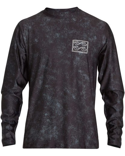 1 Riot Loose Fit Long Sleeve Rashguard Black MR62NBRL Billabong