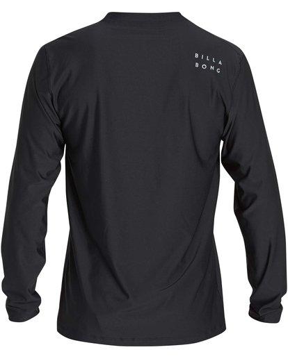 1 Stacked Loose Fit Long Sleeve Rashguard Black MR63NBST Billabong