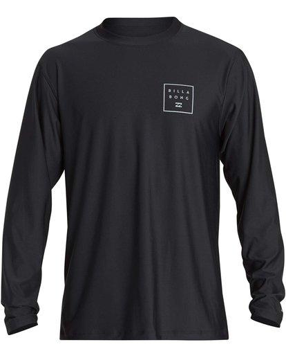 0 Stacked Loose Fit Long Sleeve Rashguard Black MR63NBST Billabong