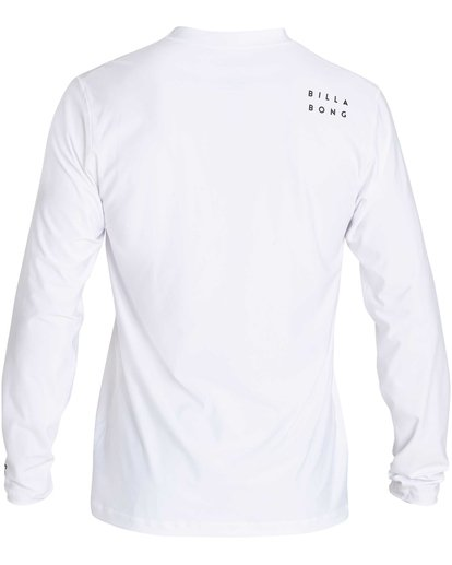 1 Stacked Loose Fit Long Sleeve Rashguard White MR63NBST Billabong