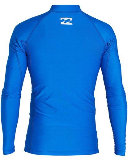 1 All Day United Performance Fit Long Sleeve Rashguard Blue MR64NBAU Billabong
