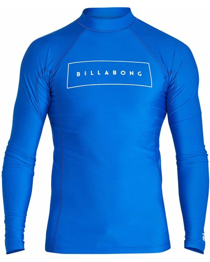 0 All Day United Performance Fit Long Sleeve Rashguard Blue MR64NBAU Billabong