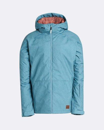 0 Men's All Day Solid Outerwear Jacket Blue MSNJQADI Billabong