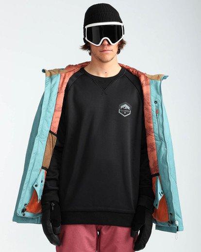 7 Men's All Day Solid Outerwear Jacket Blue MSNJQADI Billabong