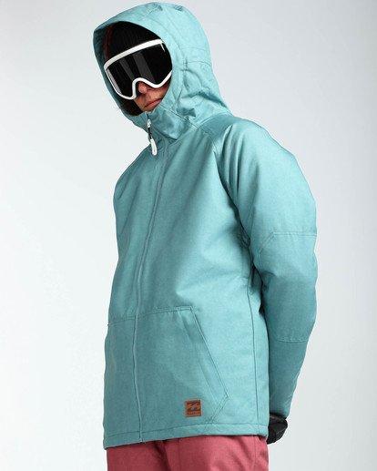 5 Men's All Day Solid Outerwear Jacket Blue MSNJQADI Billabong