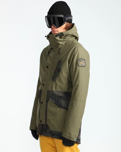 3 Men's Adversary Snow Jacket  MSNJQADV Billabong