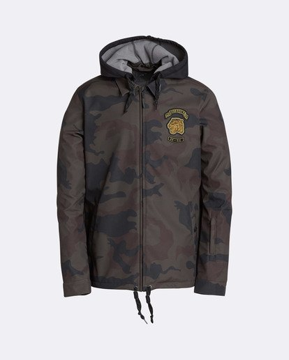 0 Men's Fastplant Outerwear Jacket Camo MSNJQFAS Billabong