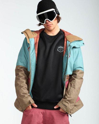 7 Men's Fifty 50 Outerwear Jacket Blue MSNJQFIF Billabong