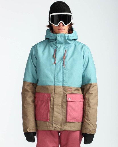 2 Men's Fifty 50 Outerwear Jacket Blue MSNJQFIF Billabong