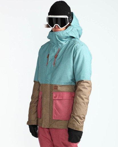 3 Men's Fifty 50 Outerwear Jacket Blue MSNJQFIF Billabong