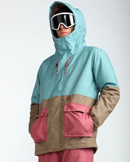5 Men's Fifty 50 Outerwear Jacket Blue MSNJQFIF Billabong