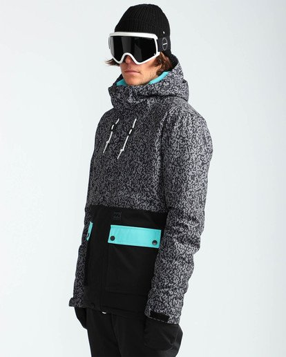 3 Men's Fifty 50 Outerwear Jacket Grey MSNJQFIF Billabong
