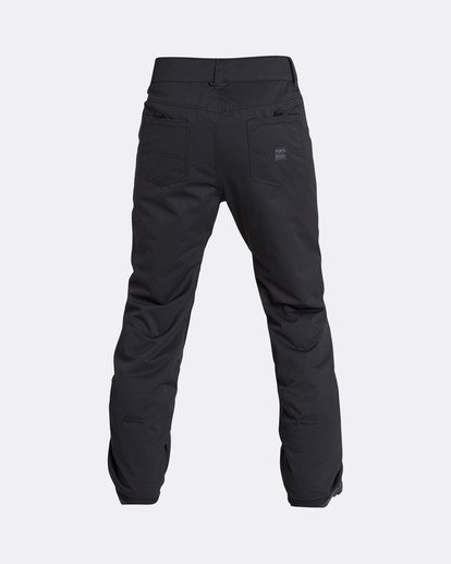 1 Men's Outsider Outerwear Snow Pants Black MSNPQOUT Billabong
