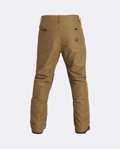 2 Men's Outsider Outerwear Snow Pants Yellow MSNPQOUT Billabong
