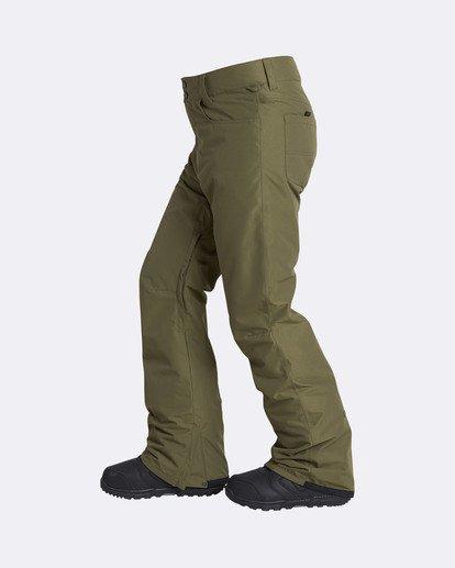 1 Men's Outsider Outerwear Snow Pants Brown MSNPQOUT Billabong