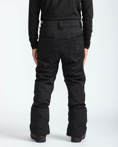 5 Men's Outsider Outerwear Snow Pants Black MSNPQOUT Billabong