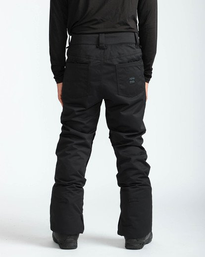 6 Men's Outsider Outerwear Snow Pants Black MSNPQOUT Billabong