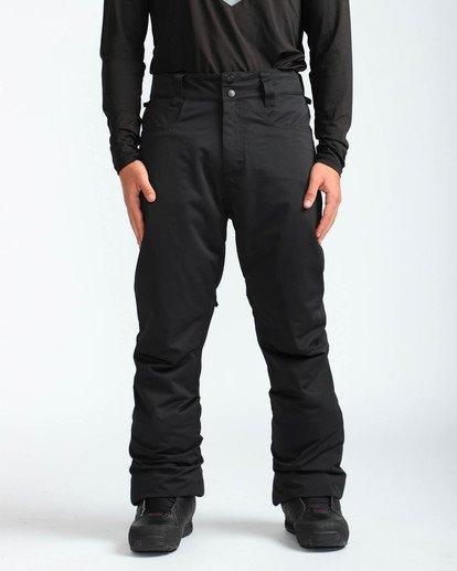 2 Men's Outsider Outerwear Snow Pants Black MSNPQOUT Billabong