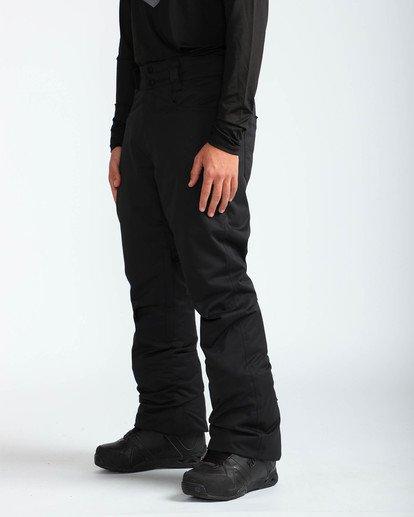 3 Men's Outsider Outerwear Snow Pants Black MSNPQOUT Billabong