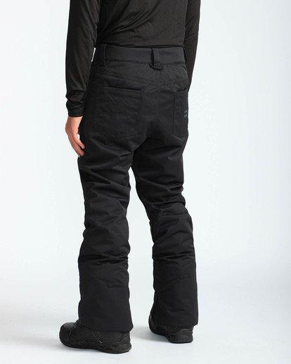 4 Men's Outsider Outerwear Snow Pants Black MSNPQOUT Billabong