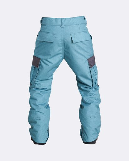 2 Men's Transport Outerwear Snow Pants Blue MSNPQTRA Billabong