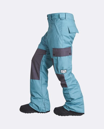 1 Men's Transport Outerwear Snow Pants Blue MSNPQTRA Billabong